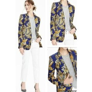 Banana Republic Limited Ed Long Silk Floral Blazer